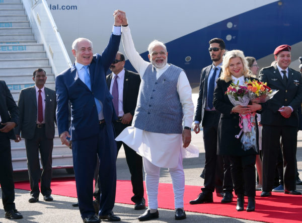 India Israeli ties got a shot on the arm from the very start when Prime Minister,  Narendra Modi welcomed the Prime Minister of Israel, Benjamin Netanyahu, on his arrival, at Air Force Station, Palam, in New Delhi on January 14, 2018.