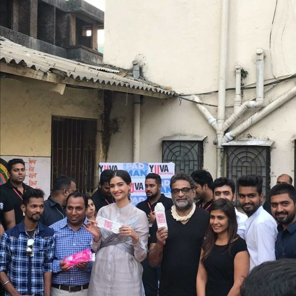 R Balki and Sonam Kapoor at the Unstoppable #PadMan awards creating awareness on importance of sanitation and menstrual hygiene.